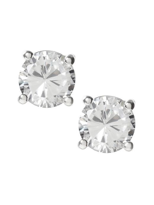 Banana Republic Womens Cubic Zirconia Round Stud Earring Size One Size - Cubic zirconia
