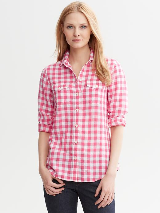 Banana Republic Soft Wash Gingham Shirt