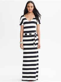 Striped Tie-Front Patio Dress