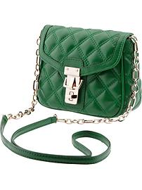 Quilted faux-leather cross-body
