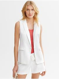 Sleeveless Linen Blazer