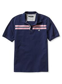 Signature Double Chest-Stripe Piqué Polo