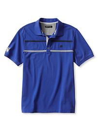 Signature Pieced-Stripe Piqué Polo