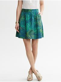 Fern-Print Full Skirt