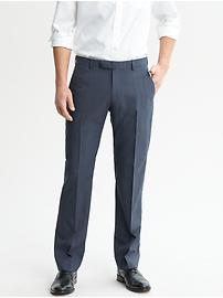 Mad Men® Collection Navy Plaid Wool Suit Trouser
