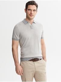 Micro-Stripe Sweater Polo