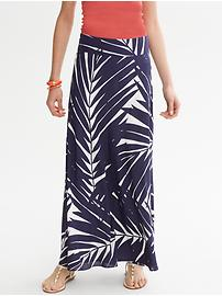 Palm Print Silk Patio Skirt