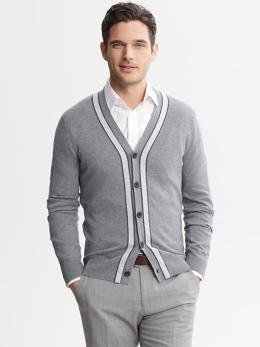 Banana Republic Contrast Trim Cardigan