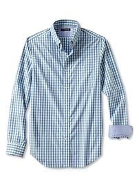 Tailored Slim-Fit Soft-Wash Gingham Shirt
