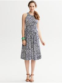 Daria Leaf-Print Halter Dress