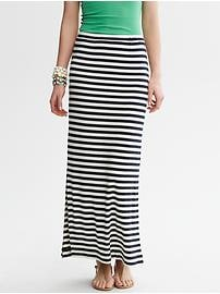 Striped Knit Column Skirt