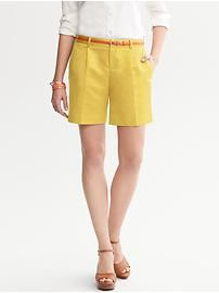 Pleat-Front Short
