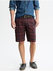 Burgundy Plaid Short
