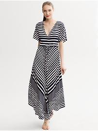 Diagonal Stripe Patio Dress