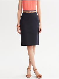 Sleek suit skirt