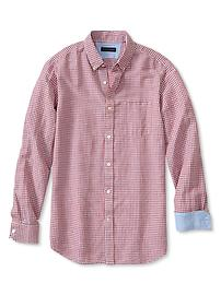 Slim-Fit Gingham Linen-Cotton Button-Down Shirt