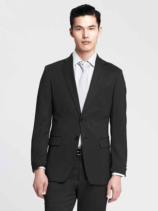 Banana Republic New Charcoal Wool Two-button Suit Blazer