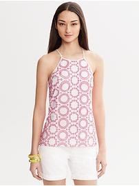 Milly Collection Circle Embroidered Top