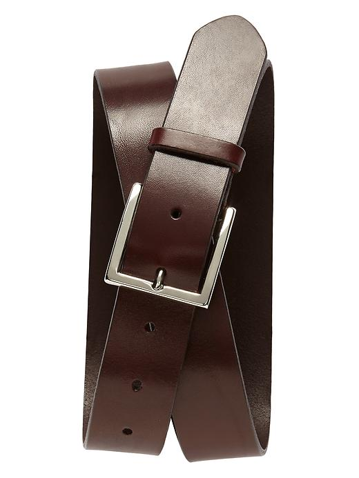 Banana Republic Mens Leather Modern Belt Size 30 - Brown