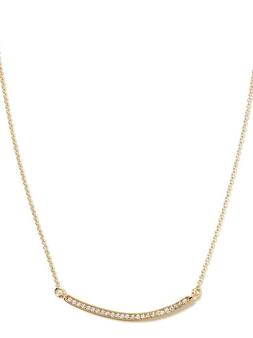 Banana Republic Pave Bar Necklace Size One Size - Gold