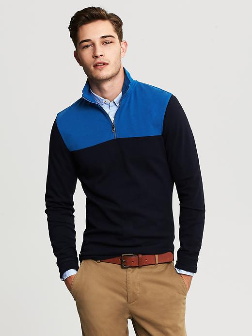 Banana Republic Mens Half Zip Jacket