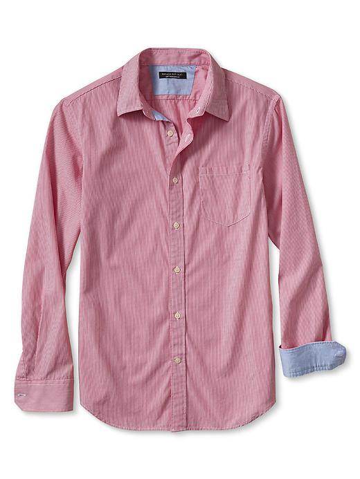 Banana Republic Tailored Slim Fit Soft Wash Micro Stripe Shirt - Heartthrob