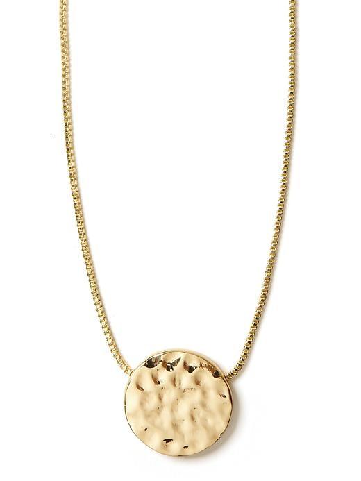 Banana Republic Gold Disc Necklace Size One Size - Gold