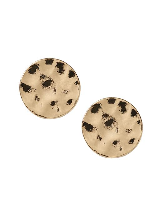 Banana Republic Gold Disc Stud Earring Size One Size - Gold