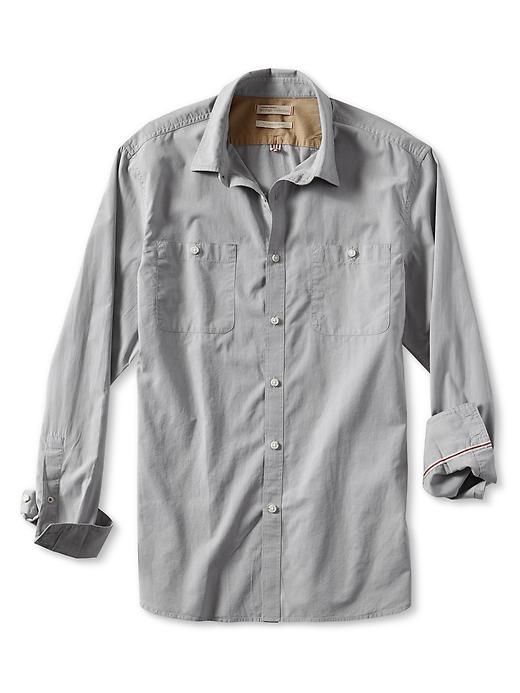 Banana Republic Heritage Dobby Utility Shirt - Light grey
