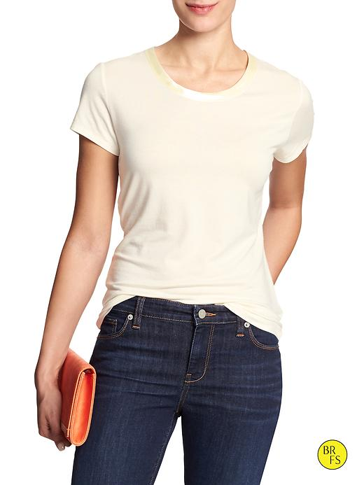 Banana Republic Womens Factory Luxe Touch Tee Size S - Flurry
