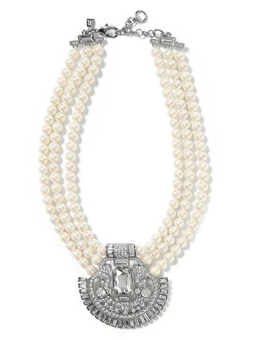 Banana Republic Deco Necklace Size One Size - Pearl