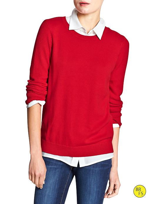Banana Republic Factory Knit Sweater Size M - Pure red