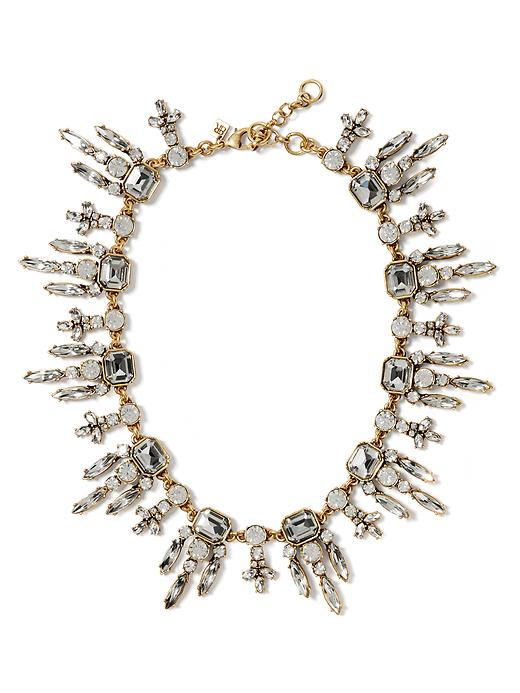 Banana Republic Art Nouveau Crystal Necklace Size One Size - Clear crystal