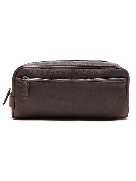 Banana Republic Mens Leather Travel Kit Size One Size - Sequoia brown