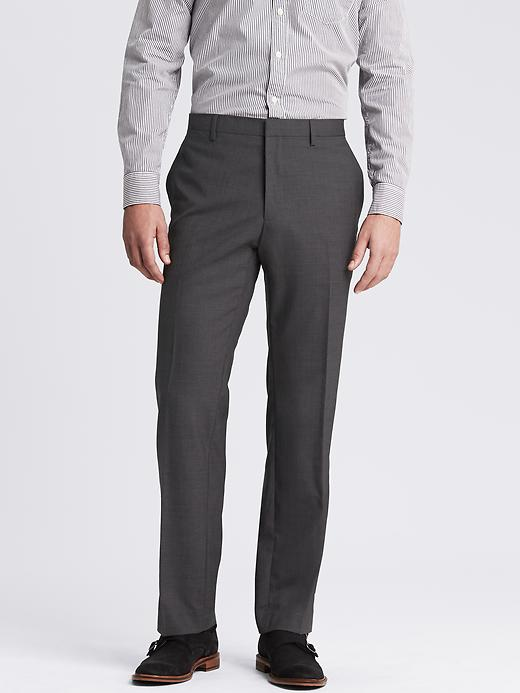 Banana Republic Classic Fit Solid Wool Trouser Size 44W 34L - Mid gray