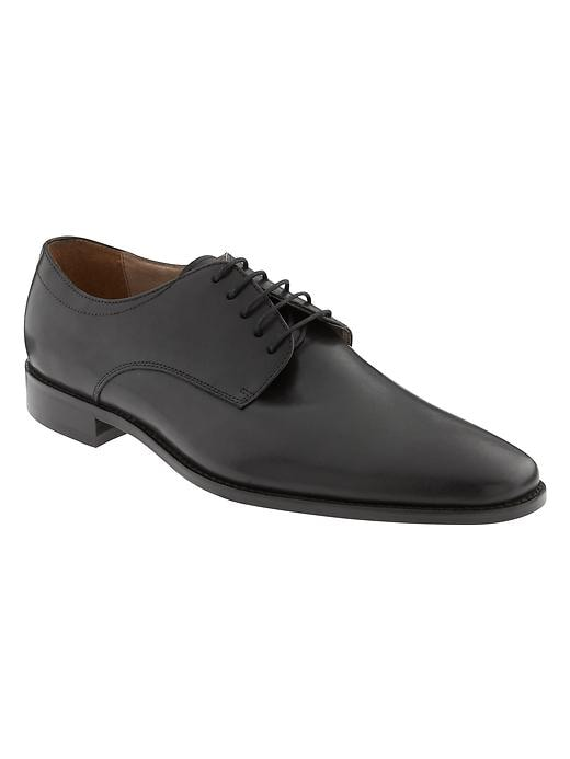 Banana Republic Mens Shaw Italian Leather Oxford Size 10 - Black