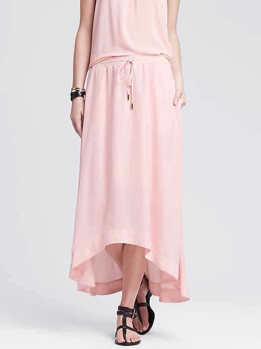 Banana Republic Womens Heritage High/Low Midi Skirt Size S - Sweet grapefruit