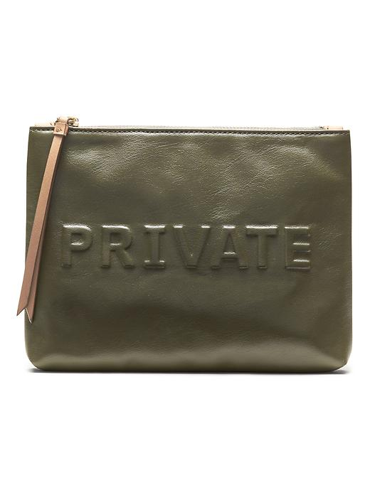 Banana Republic Embossed Conversational Pouch Size One Size - New olive