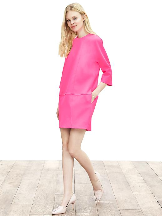 Banana Republic Seamed Shift Size 2 - Neon double pink