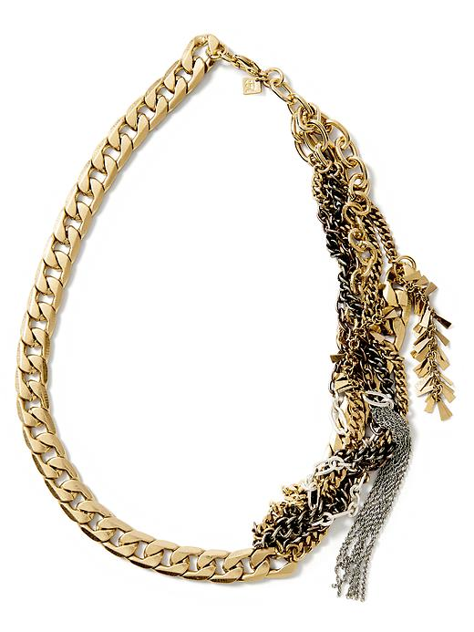 Banana Republic Mixed Metal Chain Necklace Size One Size - Mixed metal