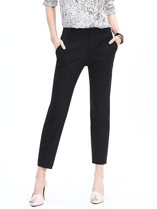 Banana Republic Womens Black Lightweight Wool Boy Crop Size 10 Regular - Black
