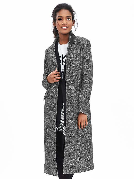 Banana Republic Tweed One Button Coat Size S - Black