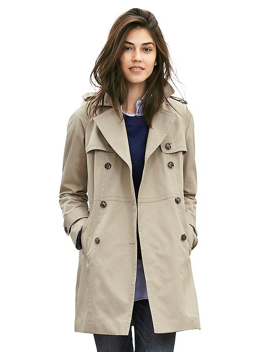 Banana Republic Double Breasted Trench Size S Petite - Partridge