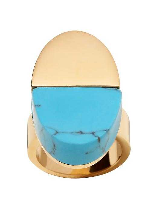 Banana Republic Turquoise Cocktail Ring Size 8 - Turquoise