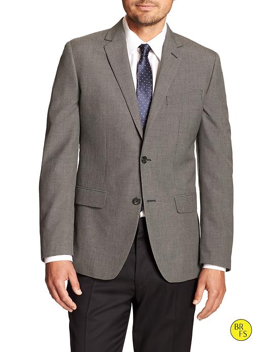 Banana Republic Factory Tailored Slim Fit Gray Blazer Size 40 Short - Gray texture