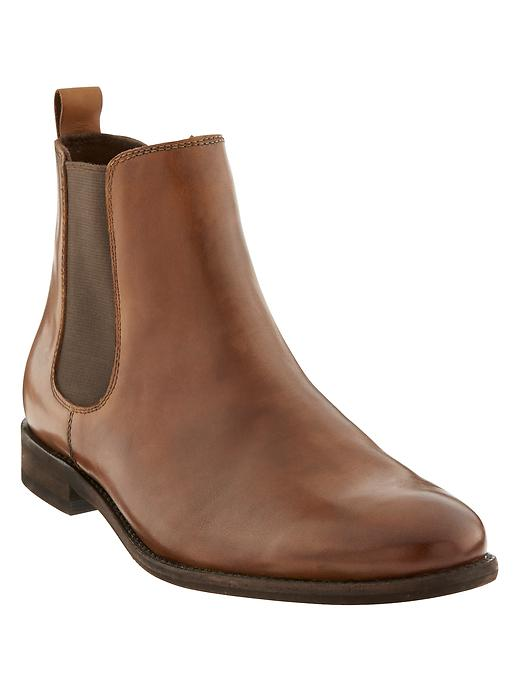 Banana Republic Mens Ty Chelsea Boot Size 9 - Cognac