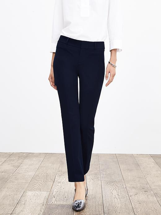 Banana Republic Womens Sloan Fit Slim Ankle Pant Size 2 Petite - True navy
