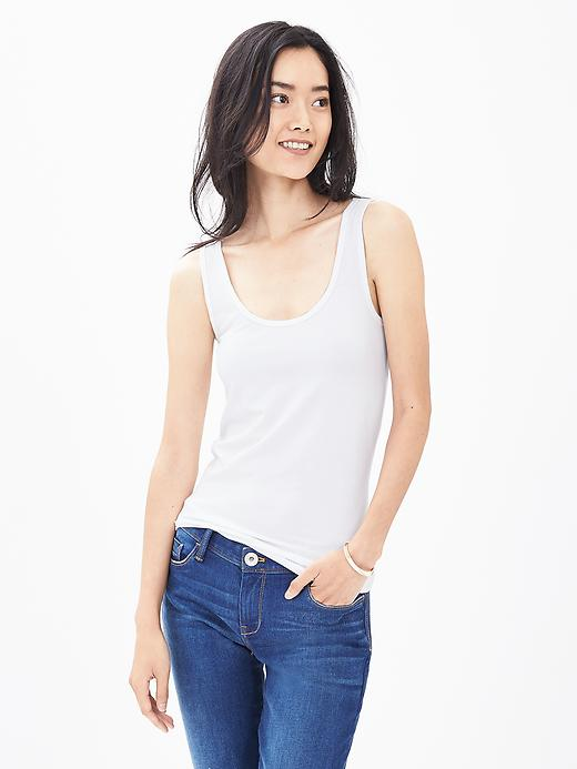 Banana Republic Essential Stretch To Fit Tank Size S - White