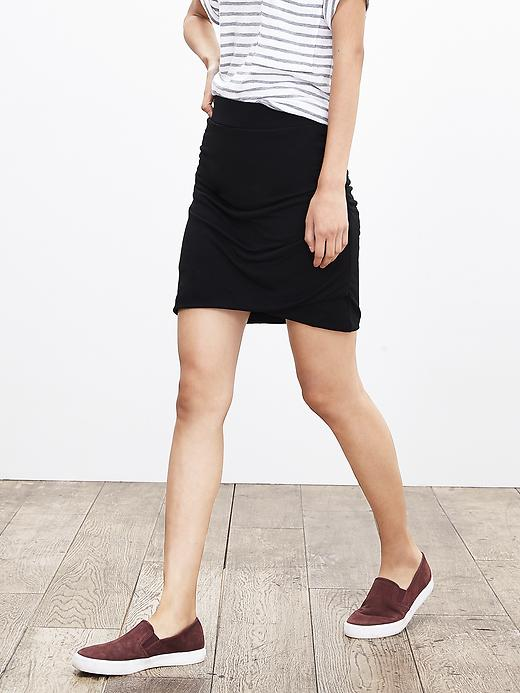 Banana Republic Womens Ruched Jersey Skirt Size S - Br black