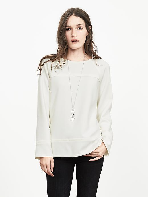 Banana Republic Womens Boatneck Top Size M - Cocoon